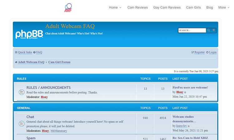Adult-webcam-faq forum