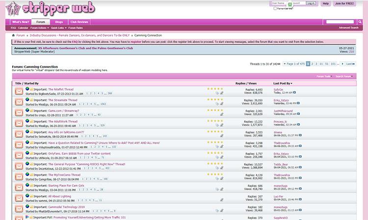 StripperWeb Forums